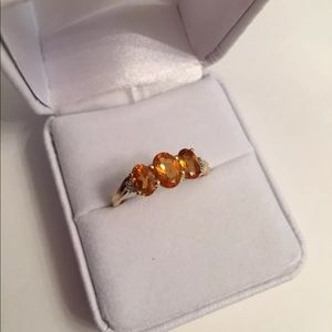 Jewelry - Citrine 10K Yellow Gold Three Stone Ring